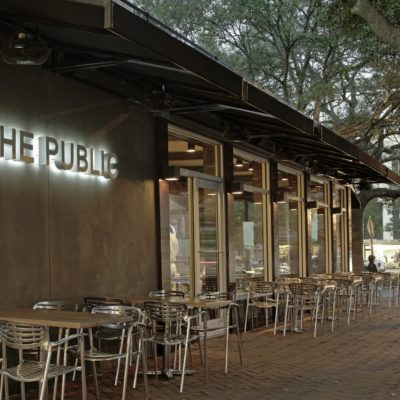 The Public Kitchen and Bar exterior seating Savannah, Ga